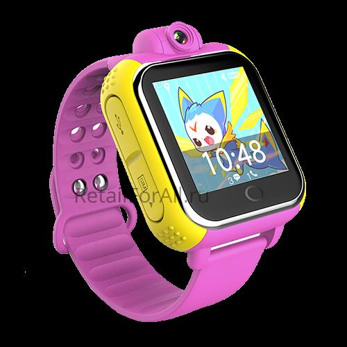 Умные детские часы с GPS GW1000 (G75) (розовый)