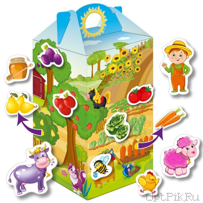 Игра на коробке «Живу на ферме»