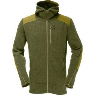 Norrona Tamok warm/wool2 Zip Hood Olive Drab