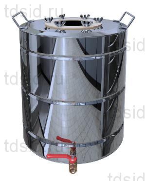 Бак для дистиллятора с ребрами жесткости