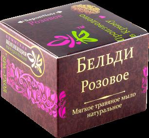 """""""КНК"""" Мягкое трав.мыло БЕЛЬДИ """"Роза""""120г (00044)"""
