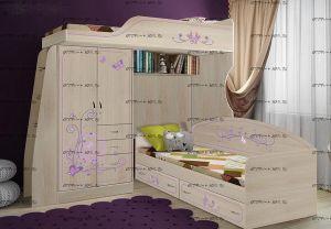 Кровать двухъярусная Фанки Лилак №6
