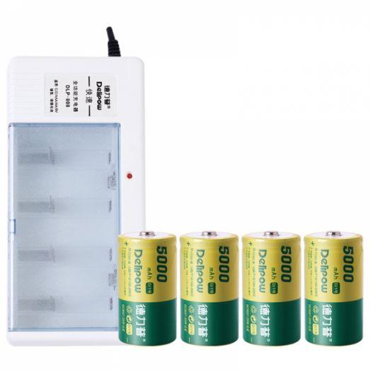 Аккумуляторное ЗУ для аккум. DELIPOW DLP-808 (C/D,9V,AA,AAA)
