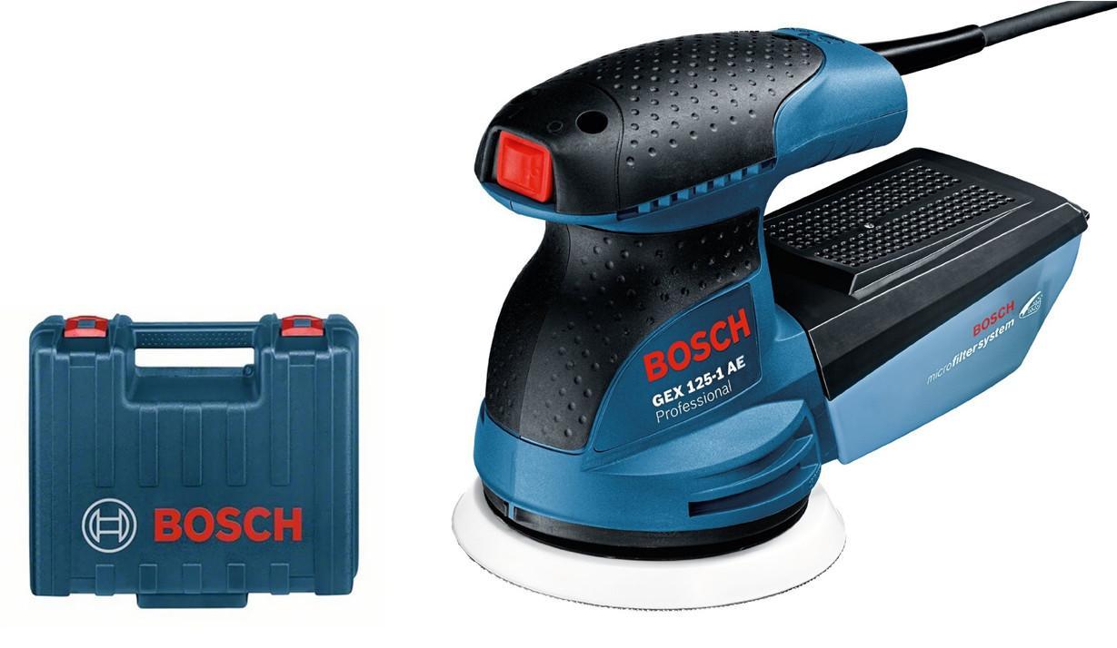 Эксцентриковая шлифмашина Bosch GEX 125-1 AE кейс (0601387501)