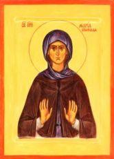 Мария Вифинская (рукописная икона)