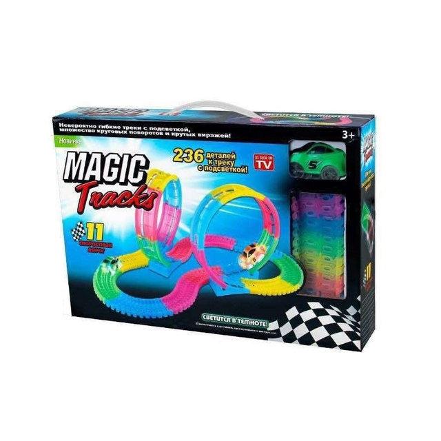 Magic-Tracks 2 Мертвых петли 236 + светящаяся машинка