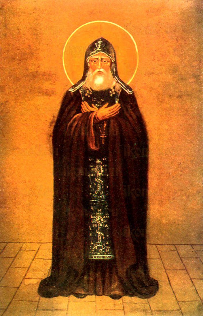 Марк Псково-Печерский (рукописная икона)