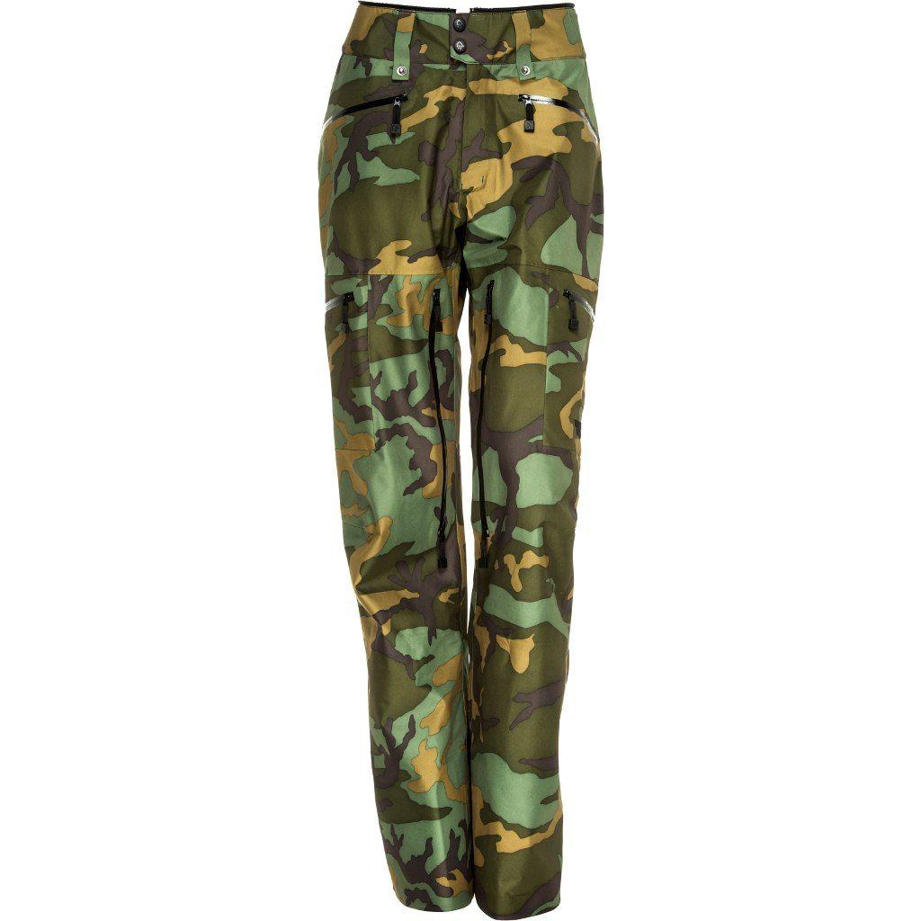 Norrona Tamok Gore-Tex Pants W Green Camo