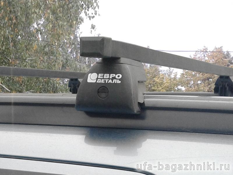 Багажник на интегрированные рейлинги Mitsubishi ASX, Евродеталь, стальные прямоугольные дуги