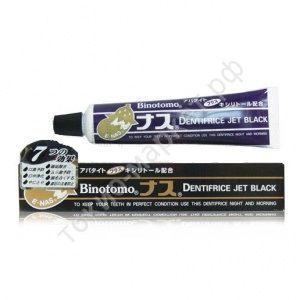 Fudo Kagaku Binotomo Баклажан Зубная паста для защиты от кариеса и зубного камня отбеливающая черная 80г