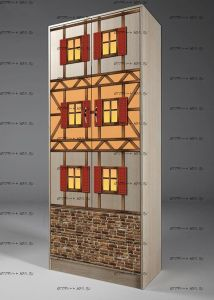 Шкаф 2-дверный Фанки Кидз Домик, арт. 13/3 (75х52х200)