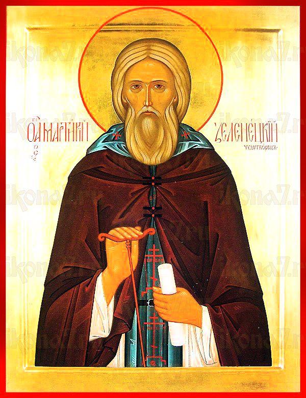 Мартирий Зеленецкий (рукописная икона)