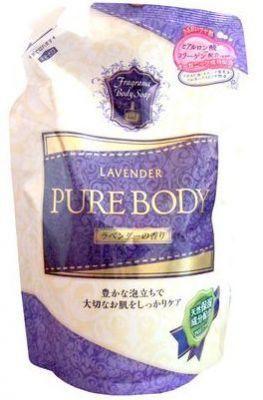 Mitsuei Pure Body Увлажняющий гель для душа с гиалуроновой кислотой, коллагеном и экстрактом алоэ (мягкая экономичная упаковка), 400мл ароматы в ассортименте