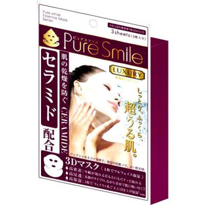 """""""Pure Smile"""" """"Luxury 3D Mask"""" Регенерирующая 3D маска для лица с церамидами, арбутином, коллагеном и экстрактом портулака (30 мл.*3 шт.)"""