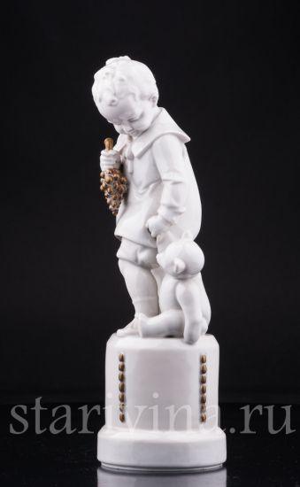 Изображение Мальчик с мишкой, Hertwig & Co, Katzhutte, Германия, 1920-30 гг