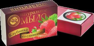 """""""КНК"""" Натур.мыло """"Клубника со сливками"""" 75 гр (00774)"""