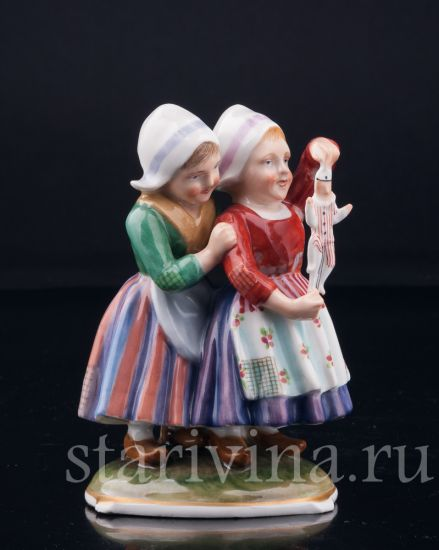 Изображение Девочки с марионеткой, Richard Ginory, Италия, нач. 20 в