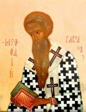 Мефодий Моравский (рукописная икона)