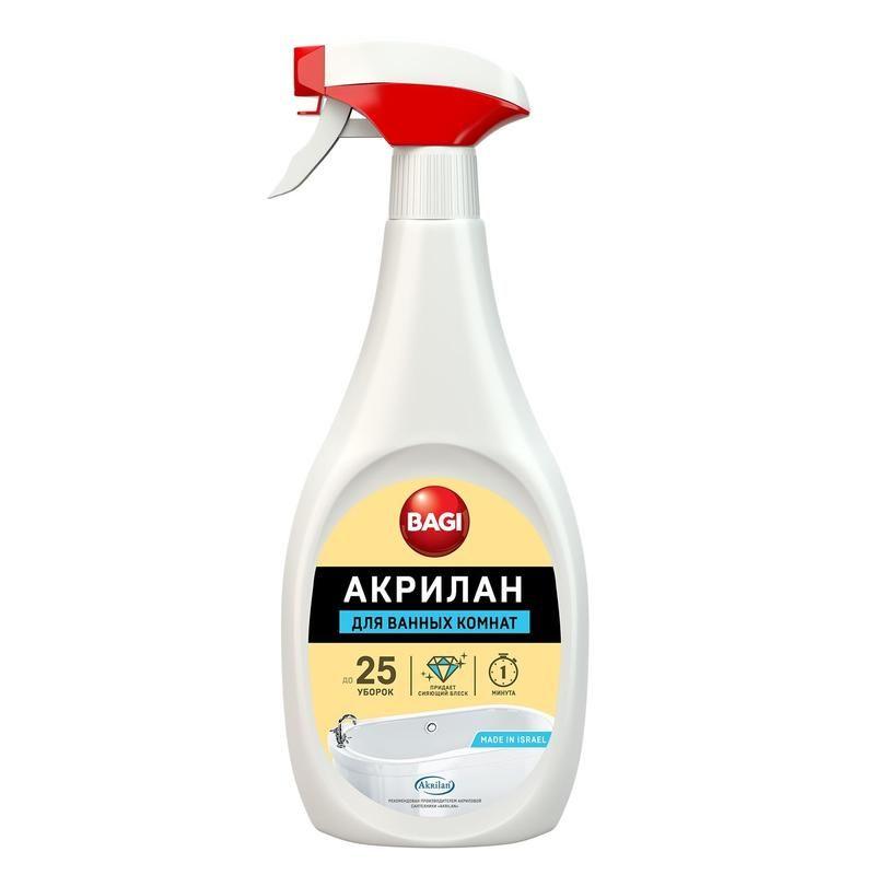Баги Акрилан для чистки эмалированных ванн спрей 400 мл