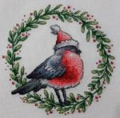"Cross stitch pattern ""Bullfinch""."