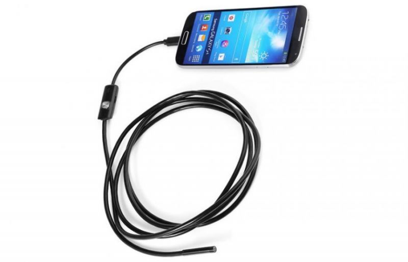 Эндоскоп для Android и ПК, длина кабеля 1 м