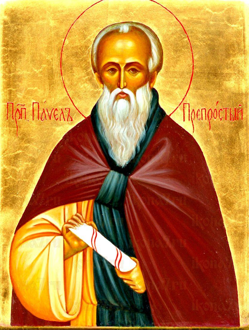 Павел Препростой (рукописная икона)