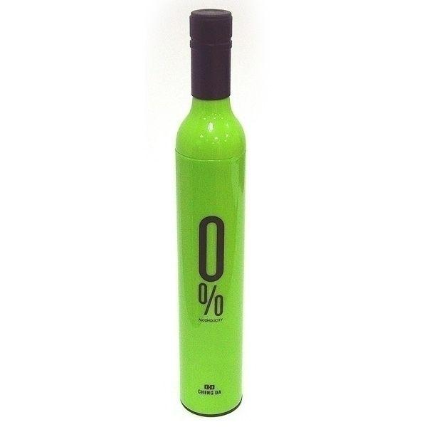 Зонт в бутылке зеленый 0