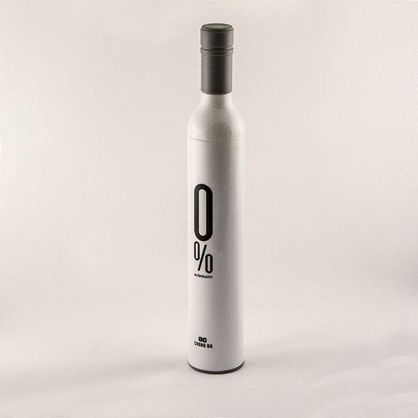Зонт в бутылке белый