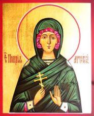 Поплия Антиохийская (рукописная икона)
