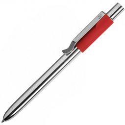 серебристые ручки Staple с красной вставкой