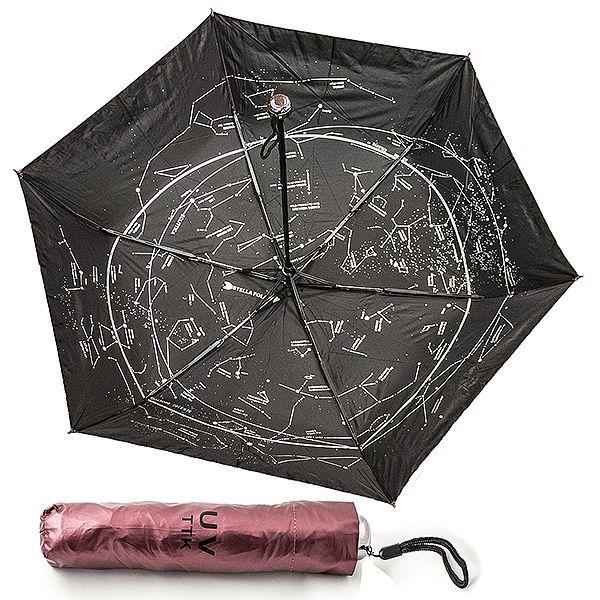 Зонт Звездное небо складной красный