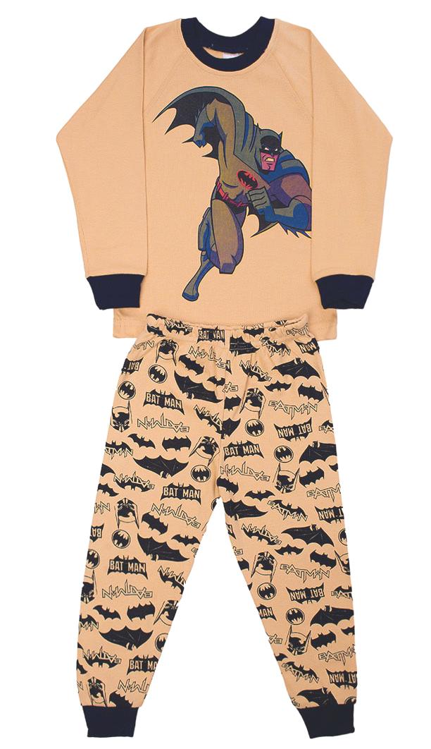 Бежевая пижама для мальчика Бэтмен