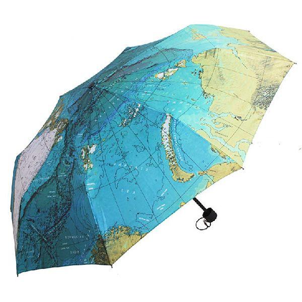 Зонт Карта Мира складной