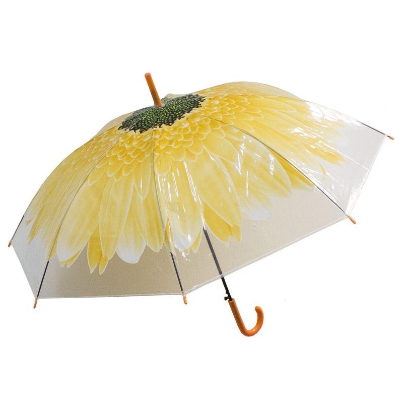 Зонт купол Цветок большой желтый