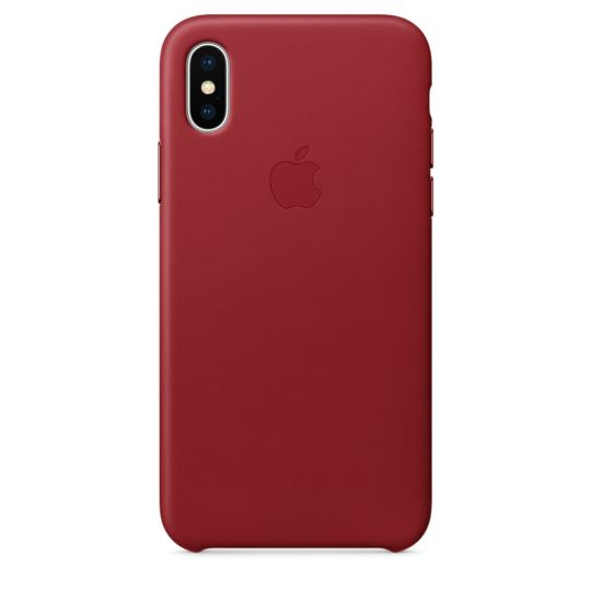 Чехол Apple Leather Case для iPhone X/Xs/XsMAX (PRODUCT)RED