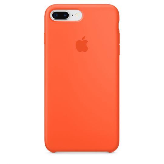 Silicone Case для iPhone 7+,iPhone 8+ (оранжевый шафран)