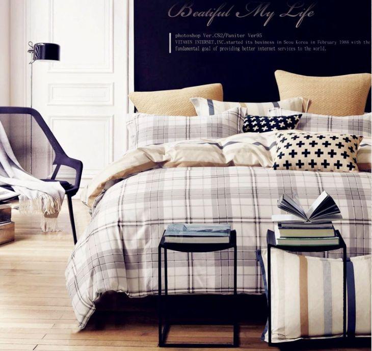 Комплект постельного белья Сатин 100% хлопок C241 евро
