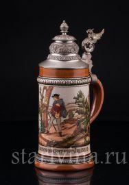 Кружка Мельница 1/2 л, Hauber & Reuther, Германия, 1876-1910 гг