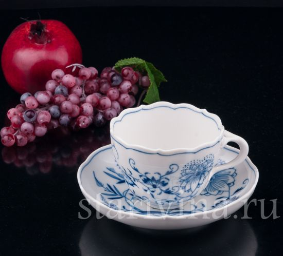 Изображение Чайная пара, Луковичный узор, Meissen, Германия