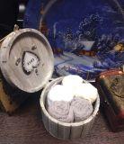 Набор салфеток 30х30 в деревянной шкатулке