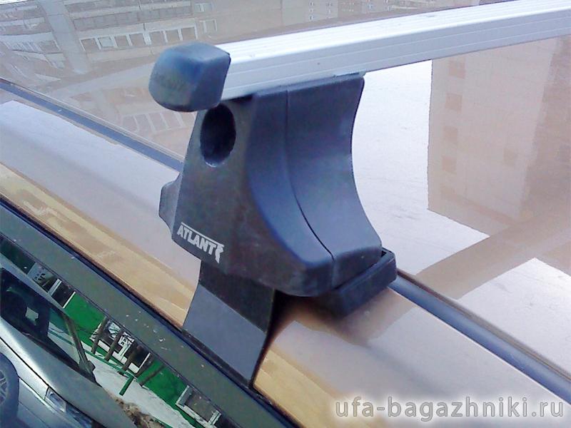 Багажник на крышу Nissan Primera P12 sedan, Атлант, прямоугольные дуги