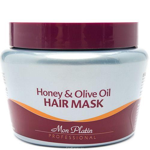 Маска для волос на основе оливкового масла и меда Mon Platin Professional (Мон Платин Профешнл) 500 мл