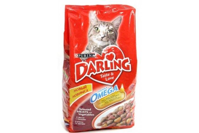ДАРЛИНГ сухой корм для кошек мясо/овощи пакет 10 кг