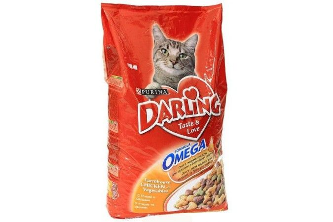 ДАРЛИНГ сухой корм для кошек птица/овощи пакет 10 кг