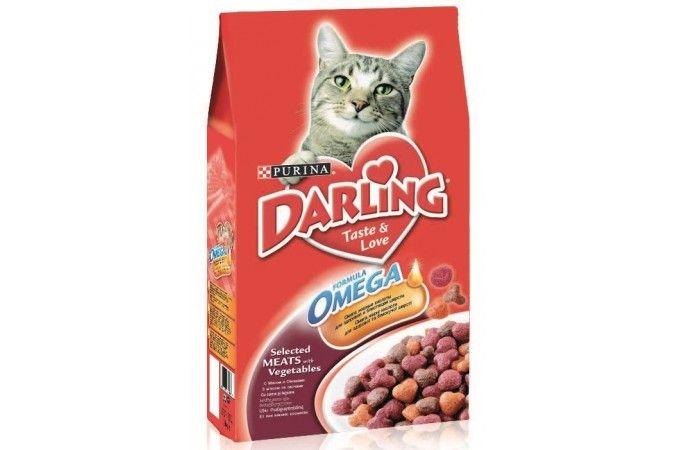 ДАРЛИНГ сухой корм для кошек мясо/овощи пакет 2 кг 1/6