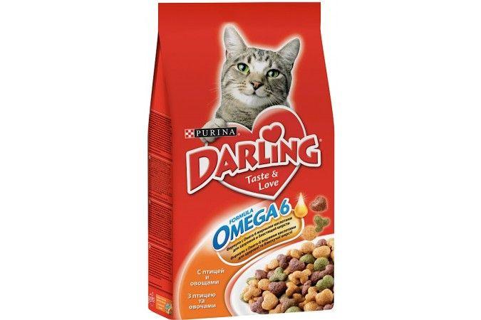 ДАРЛИНГ сухой корм для кошек птица/овощи пакет 2 кг 1/6