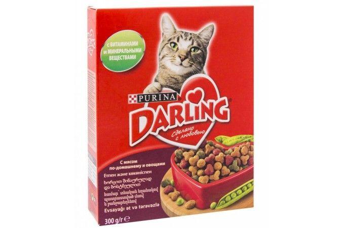 ДАРЛИНГ сухой корм для кошек мясо/овощи карт. упак. 300 г 1/10