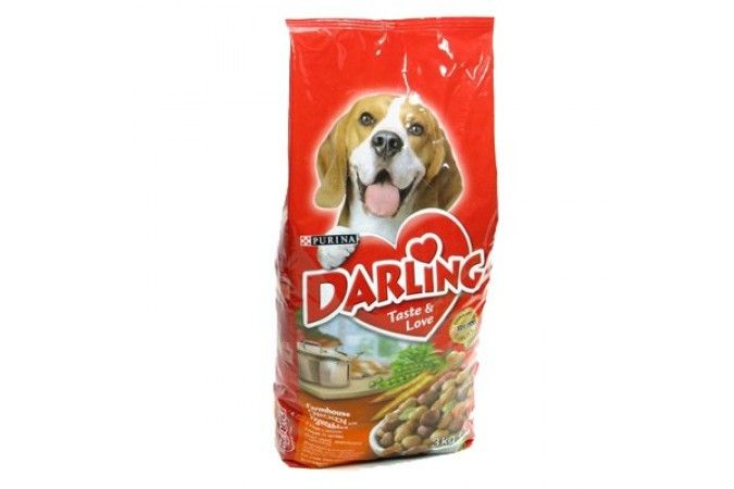 ДАРЛИНГ сухой корм для собак курица/овощи пакет 10 кг