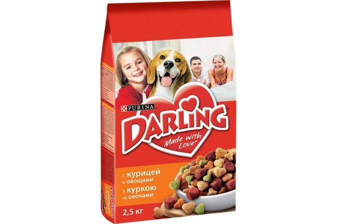 ДАРЛИНГ сухой корм для собак курица птица/овощи пакет 2,5 кг 1/5
