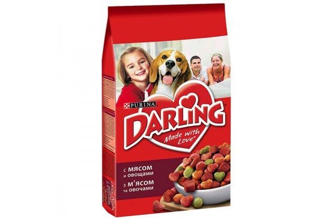 ДАРЛИНГ сухой корм для собак мясо/овощи пакет 2,5 кг 1/5